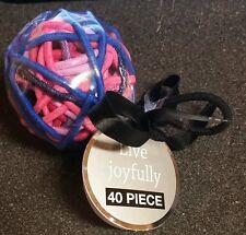 Live Joyfully 40 Piece Elastic Hair Ties *NIP* Black/Pink/Purple/Blue