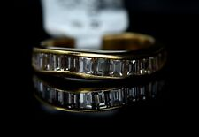 1.20TCW Diamond Channel Baguette Band 14K Solid Yellow Gold