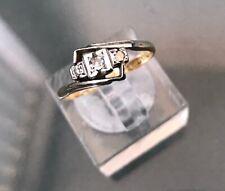 Women's 18ct Gold & Platinum Diamond Ring Three-Stone Size L Weight 2.1g Stamped