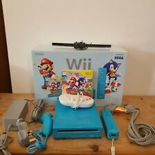 Blue Nintendo Wii Mario & Sonic London 2012 Olympic Games Limited Edition Boxed