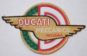 """Ducati Meccanica 1960's vintage style quality embroidered cloth patch 4.5"""" wide"""