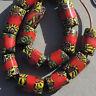 16 old antique venetian tubular millefiori african trade beads #4760