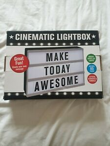 Cinematic Light Box Customise A4  Text  85 tiles Letter Box Message Board
