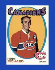New listing 1971-72 Topps Set Break #120 Henri Richard NR-MINT *GMCARDS*