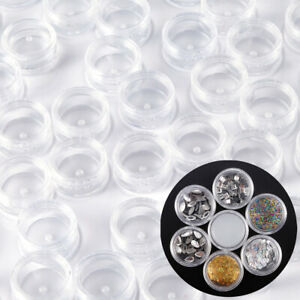 50 100 Durable Plastic Sample 3ml Small Bottle Container Pot Jar Cosmetic Tool