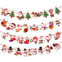 Xmas Hanging Decor Banner Snowman Santa Claus Elk Christmas Decorations Party