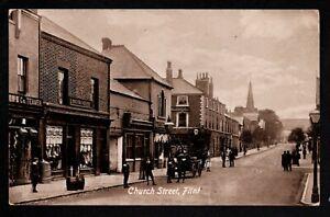 Flint, Church Street - printed photographic postcard