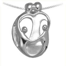 Loving Family Necklace, Small 2 Parents and 2 Children, Silver Mother's jewelry