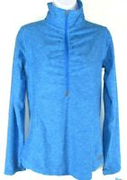 NEW BALANCE NBDRY WOMEN'S AQUA 1/4 ZIP LONG SLEEVE SHIRT, #WT73891-LBH