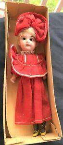 "8"" Antique A/O Bisque Head Doll in Org. Box"