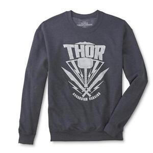 Marvel Mens Thor Ragnarok Hammer Asgardian Warrior Sweatshirt New S, XL