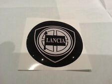 1 Adesivo Resinato Sticker 3D 50 mm Lancia Nero old
