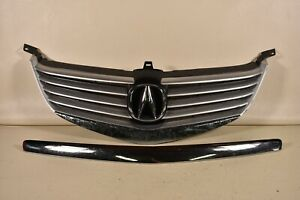 05-08 ACURA RL FRONT GRILLE ASSEMBLY COVER INSERT MOLDING CHROME OEM