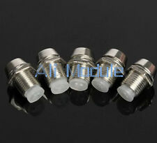 50 pcs 5MM Chrome Metal Silver Bezel LED Holder Panel Display Mount Base Rubber