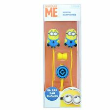 Kids Minions Despicable Me In-Ear Earphones Cute Soft Sound Limit Tablets Phone
