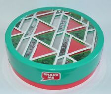 BATH & BODY WORKS RED GREEN ROUND GLITTER EMPTY GIFT BOX SET WRAP ORGANIZER CUTE