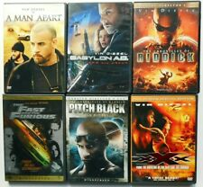 New listing 7 Vin Diesel Dvds - Pitch Black, Chronicles of Riddick, Fast and Furious, Xxx.