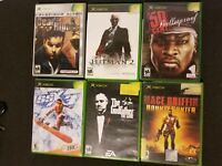 Original Xbox 6x Game Lot - Dead to Rights, Hitman, Godfather, 50cent, SSX