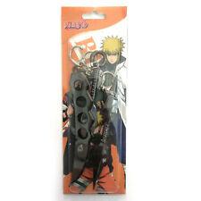 Naruto Minato Asuma Fist Weapon Dagger Shuriken Ninja Cosplay Keychain BLACK USA
