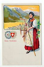 SUISSE SWITZERLAND Canton des GRISONS Costume GRAUBUNDEN
