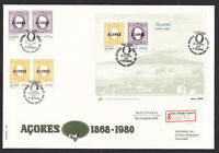 Portugal Azores 1980 Acores Overprint Registered FDC First Day Cover
