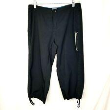 Columbia Sportswear womens capri exercise pants size 8 black draw string