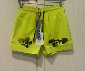 OFF-White x Vilebrequin Paint-Stained Shell Swim Shorts, S