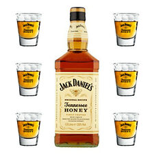 Whiskey JACK DANIEL'S HONEY 1 LITRO + 6 BICCHIERI ORIGINALI Shot Daniels Whisky