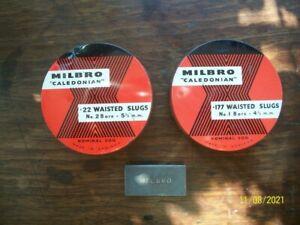 Vintage air rifle pellet tins for Webley & BSA air rifles + one other