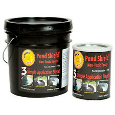 Pond Armor Pond Shield Non-Toxic Epoxy Pond Liner & Sealer 3 Gallons Clear Color