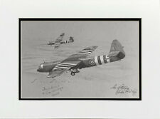 Original drawing ARNHEM D-DAY AIRBORNE SIGNED BY TWO GLIDER PILOTS  HORSA, SMITH