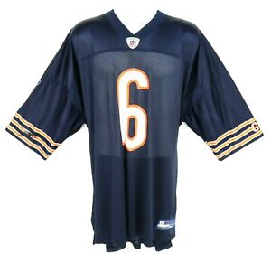 Jay Cutler Chicago Bears Reebok Jersey #6 NFL Mens 4XL Blue Orange White Nylon
