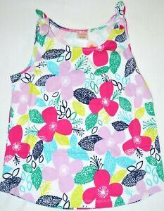 Gymboree Mix N Match Purple Pink FLOWER Tank Top Shirt Large 10 12 Kid Girls NWT