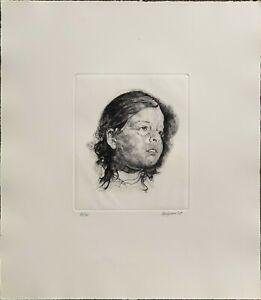 RENZO VESPIGNANI acquaforte Marta anno 1978 64x47 firmata numerata pubblicata