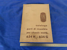 CATALOGO PARTI DI RICAMBIO ORIGINALE CAMION FIAT 634 N 634 G 1946