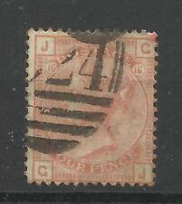 1873/80 Sg 152, 4d Vermilion (GJ) Plate 15 (Garter Watermark) Good to fine used.