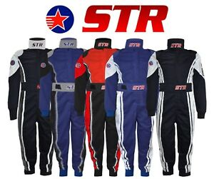 STR Kids Race Suit Overalls Ninja Kart Micro F2 Ministox SFI Mini Approved ORCi
