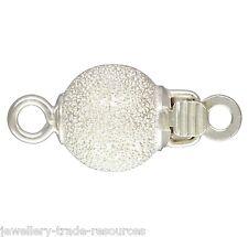 6mm Plata Esterlina Stardust Pearl / Collar de abalorios de empuje en joyas broche capturas
