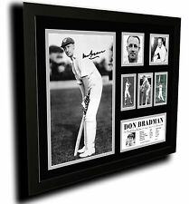 SIR DONALD BRADMAN SIGNED LIMITED EDITION FRAMED MEMORILIA