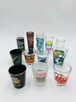 Lot of 12 Shot Glasses - Carolina Panthers - Daytona Beach - Cancun and More