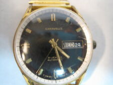 VINTAGE  CARAVELLE  21 JEWEL  AUTOMATIC WATCH , MENS WORKING CONDITION