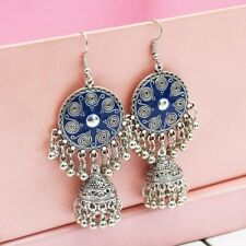 Vintage Carved Flower Drop Earrings Ethnic Jhumka Earring Gypsy Indian Jewelry