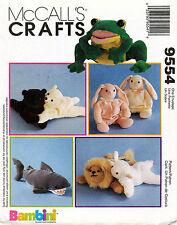 McCall's Bambini's:Shark,Frog,Bunny,Lion,Polar Bear and Lamb Pattern 9554