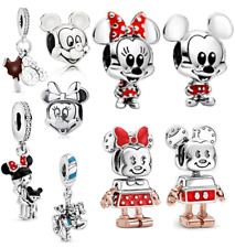 Disney Mickey Mouse authentic 925 Sterling Silver Charms Beads Fiit Pandora Gift