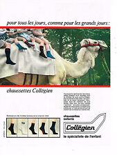 PUBLICITE ADVERTISING 035  1966  LE COLLEGIEN   chaussettes enfants