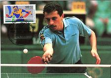 Maximumkarte MK 1989 Bund Nr : 1408 Tischtennis WM o Dortmund MK185
