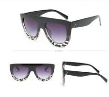 DESIGNER Inspired Shadow Shield Flat Top Black Sunglasses Celeb Kim K Holiday UK No.4-star Triangle Shape Festival Camp Blogger UV