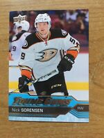 2016-17 UD Young Guns #203 Nick Sorensen RC Rookie Anaheim Ducks