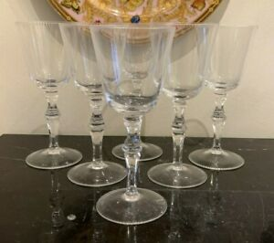 Moser Lead Free Crystal Mozart Red Wine Glasses Set of 6