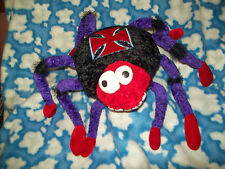 Large Purple Black & Red Maltese Cross on Back Plush  Spider NWT